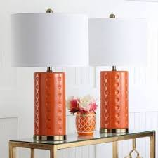 Orange Table Lamps For Less