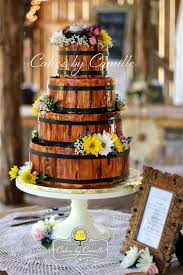 Rustic Wooden Barrel Wedding Cake Cakes By Camille LLC Venue