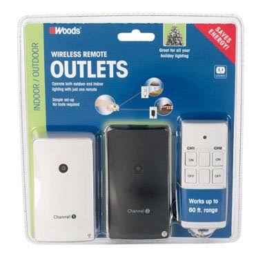 Woods A23 Indoor Outdoor Wireless Remote Control - 12v