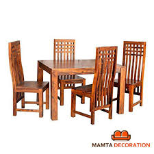 Mamta Decoration Sheesham Wood Wooden Dining Table With 4 Curvy ... Danish Mondern Johannes Norgaard Teak Ding Chairs With Bold Tables And Singapore Sets Originals Table 4 Uldum Feb 17 2019 1960s 6 By Greaves Thomas Mcm Teak Table Niels Moller Chairs Etsy Mid Century By G Plan Round Ding Real 8 Seater Jamaica Set Temple Webster Nisha Fniture Sheesham Wooden Balcony Vintage Of 244003 Vidaxl Nine Piece Massive Chair On Retro