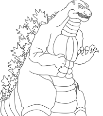 Godzilla Coloring Pages To Print Practice