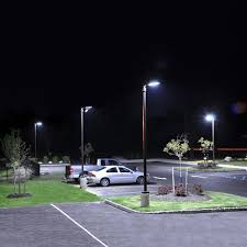LED Shoebox Pole Light 300W 5000K lumen Street Parking