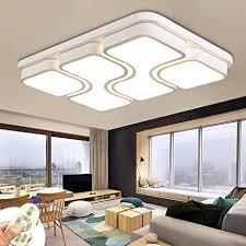 miwooho 78w modern design led deckenle dimmbar mit fernbedienung led deckenleuchte wohnzimmer le schlafzimmer küche leuchte energieklasse a