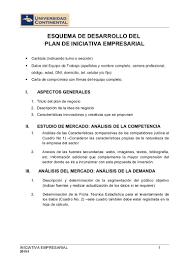 Esquema Plan Negocio 2015 1
