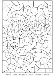 Free Printable Color By Number Coloring Pages Throughout