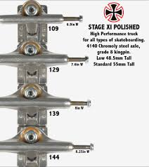 100 Truck Size Chart Independent S Independent Trucks Size Chart