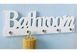 bathroom garderobenhaken bad hakenleiste holz 5 haken