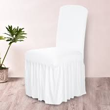 Spandex Stretch Chair Covers Elastic Cloth Ruffled Washable White Chair  Seat Cover For Dining Room Weddings Banquet Party Hotel Chair Cover Rentals  ... Chair Covers And Sashes Pink Tie Online White Arch Lycra Chair Cover Purchase Lycra 170gsm Easyslip Modern Plain Color Cover Stretch Elastic Waterproof Spandex Slipcovers Office Generic Fantynes Universal Ding Room Wikipedia 1 Your Budget For Your Wedding Day Weddings In Wales At 2pcs 4060cm Seat Covering Wedding Party Brown Of Lansing Doves In Flight Decorating Celebrations Party Spot Venue Chapel