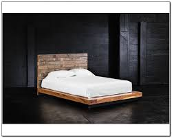 Furniture Modern Rustic King Bed Frame Idea With Headboard A White Bedding And Pillows Platform Frames Selections