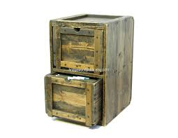 Distressed Wood File Cabinet With Vintage Hamilton Wooden Flat