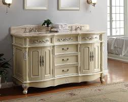 Bathroom Vanities 60 Inches Double Sink by Adelina 64 Inch Antique Pastel Finish Double Sink Bathroom Vanity