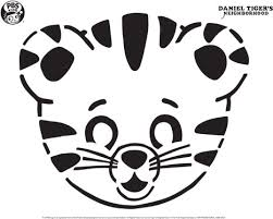 Printable Dinosaur Pumpkin Carving Patterns by Daniel Tiger Pumpkin Carving Template Happy Halloween Pbs