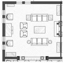 Imposing Living Room Architecture Plan With Furniture Throughout