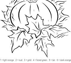 Easy Color By Number Worksheets Kindergarten Free Coloring Pages Autumn Fall