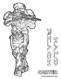 Carter Halo Colouring Sheet