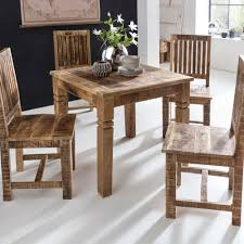 esszimmertisch braun 80 x 80 x 76 cm mango massivholz design landhaus esstisch massiv tisch für esszimmer quadratisch küchentisch für 4 personen