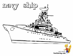 Battleship Boat Coloring Pictures For Kids