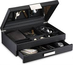 Dresser Valet Watch Box by Men U0027s Luxury Jewelry Accessories Box U0026 Dresser Organizer 12