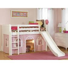 cottage standard low loft tent bed hayneedle