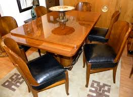 Streamline French Art Deco Dining Table And Chairs