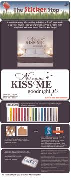 always me goodnight schlafzimmer wand aufkleber