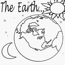 Solar System Planet Earth Free School Learning Color Book Pictures Childrens Coloring Pages To Print