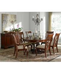 Macys Round Dining Room Table by Bordeaux 7 Piece Round Dining Room Furniture Set Furniture Macy U0027s