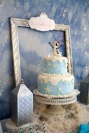 Frozen Winter Wonderland Themed Birthday Party Via Karas Ideas KarasPartyIdeas Printables Cake