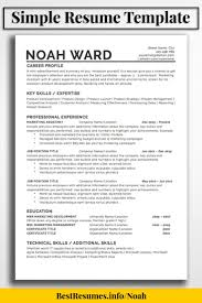 One Page Resume Template Noah Ward   Simple Resume Template ... Resume Fabulous Writing Professional Samples Splendi Best Cv Templates Freeload Image Area Sales Manager Cover Letter Najmlaemah Manager Resume Examples By Real People Security Guard 10 Professional Skills Examples View Of Rumes By Industry Experience Level How To Professionalsume Template Uniform Brown Modern For Word 13 Page Cover Velvet Jobs Your 2019 Job Application Cv Format Doc Free Download