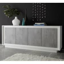 details zu sideboard sky wohnzimmer kommode schrank in weiß matt beton softclose