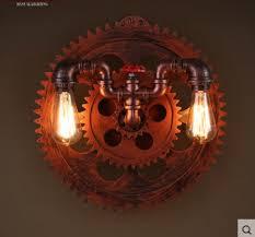 gear design retro loft industrial wall light fixtures with 2