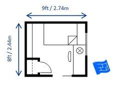 Heres 8 X 9ft 244 274mbedroom Layout Which Fulfills The 70
