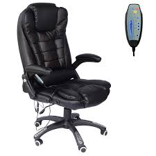 Homcom Deluxe Reclining Faux Leather Office Computer Chair 6-Point Massage  High Back Desk Work Swivel Chair Black Kadirya Recling Leather Office Chairhigh Back Executive Chair With Adjustable Angle Recline Locking System And Footrest Thick Padding For Comfort Lazboy Steve Contemporary Europeaninspired Moby Black Low Flash Fniture High Burgundy The Best Office Chair Of 2019 Creative Bloq Keswick Lift Rise Strless Ldon Nationwide Delivery City Batick Snow Chrome Base Recliner By Ekornes Gaming Chairs Obg65bk Details About Ergonomic Armchair
