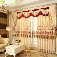 1 pc romantische vorhänge für wohnzimmer bestickt luxus küche vorhänge für schlafzimmer chenille fenster valance ohne volant