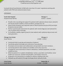 Licensed Clinical Social Worker Resume Samples Cv Sample Uk Curriculum Vitae School Job