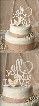 Rustic Country Real Wood Laser Cut Wedding Cake Topper 4LOVEPolkaDots