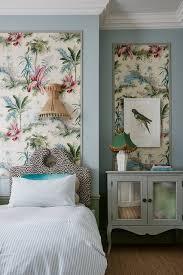 Pierre Frey Wallpaper In Tropical Bedroom