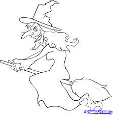 Scary Halloween Witch Coloring Pages by Halloween Witch Drawings U2013 Festival Collections