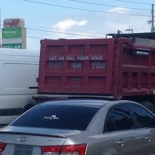 Saw This Dump Truck Drive By My Bus Stop Today. : Funny