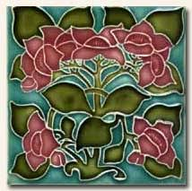nouveau tile and arts and crafts tile reproductions