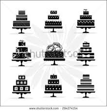 Birthday and Wedding Cakes Collection in Vintage Style