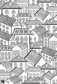 To Print This Free Coloring Page Architecture Village Roofs