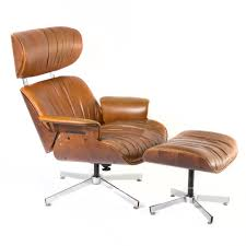 Vintage Eames Style Lounge Chair With Ottoman Classic Eames Lounge Chair Ottoman White Leather Walnut The Style With Vintage Replica Dark Tan Chicicat Fabric Fniture Room Design Lounche Awesome More Finest Ea Original Sold Office Ideas Vitra Snow Chrome Base Sothebys Home Designer George Mulhauser Mr Black Armchair Porn Dwell Framed Print Art Decor Patent Earth