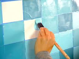 create a faux tile backsplash diy