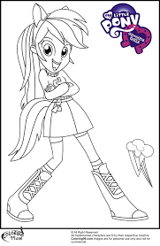 Rainbow Dash My Little Pony Equestria Girls Coloring Pages