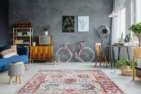 möbel wohnen teppich flachflor modern im vintage design