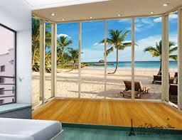 mega 3d hawaii beach wall paper wall print decal wall deco indoor