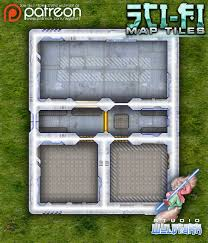 Dungeons And Dragons Tile Mapper by Sci Fi Map Tiles Wyldfurr Rpg Maps Rpgnow Com