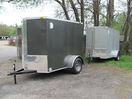 NEW 5x8 V Nose Enclosed Cargo Trailer W Ramp Pick Up In MA Or