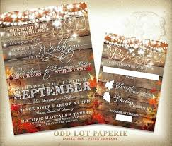 Ideas Country Wedding Invitations And Fall Rustic Invitation Invite